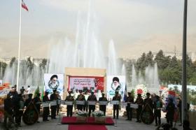 تشییع پیکر دو شهید گمنام در تهران با حضور خادمان مسجد مقدس جمکران