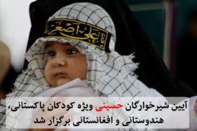 آیین شیرخوارگان حسینی ویژه کودکان پاکستانی، هندوستانی و افغانستانی برگزار شد