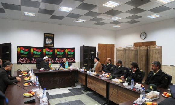 دیدار فرمانده نیروی انتظامی استان قم با تولیت مسجد مقدس جمکران