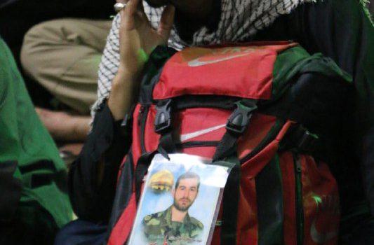 یادبود شهید مدافع حرم و خادم مسجد جمکران در مراسم پیادهروی اربعین