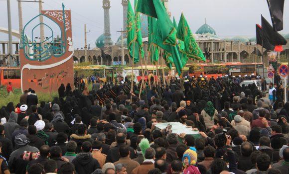 اجتماع بزرگ عزاداران حسینی در مسجد مقدس جمکران