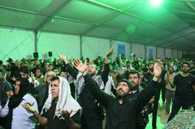 برگزاری پر شور مراسم دعای توسل در موکب مسجد مقدس جمکران