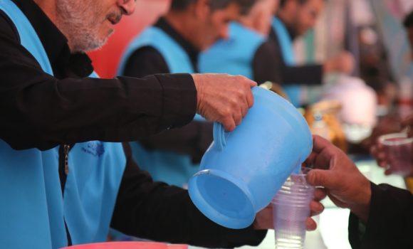 خدمترسانی خادمان مسجد مقدس جمکران در موکب اربعین