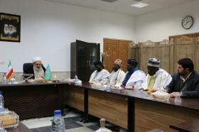 دیدار هیات عالی رتبه طریقت تیجانیه از کشور سنگال با تولیت مسجد مقدس جمکران