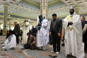 تشرف هیئت عالی رتبه طریقت تیجانی از سنگال به مسجد مقدس جمکران
