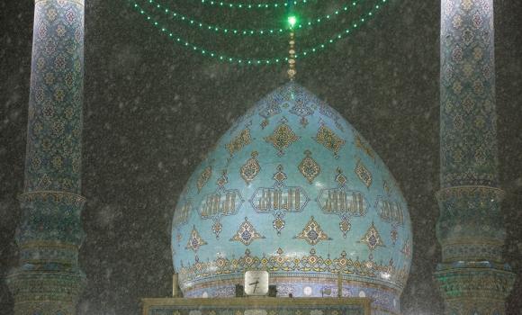 نخستین شب زمستانی در مسجد مقدس جمکران
