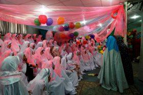 جشن آغاز بندگی فرشتگان در مرکز گل نرگس مسجد مقدس جمکران