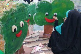استقبال خادمان کوچک گل نرگس از بهار آغاز امامت امام زمان(علیه السلام)