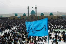 مراسم تحويل سال در مسجد مقدس جمكران
