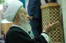 حضور آیت الله العظمی مکارم شیرازی در مسجد مقدس جمکران
