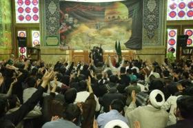 مراسم شب شهادت حضرت زینب(سلام الله علیها) در جمع معتکفین