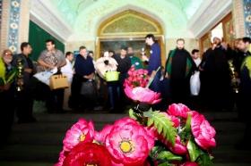 مراسم بدرقه معتکفین مسجد مقدس جمکران