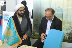 بازدید معاون اجرایی مسجد جمکران از نمایشگاه کتاب تهران