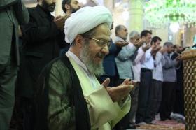 اقامه نماز عید فطر توسط منتظران ظهور در مسجد مقدس جمکران