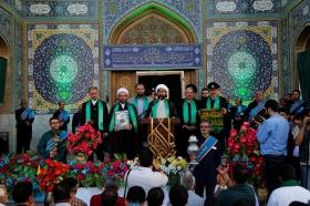 عطر حرم رضوی با کاروان «زیر سایه خورشید» به مسجد جمکران رسید