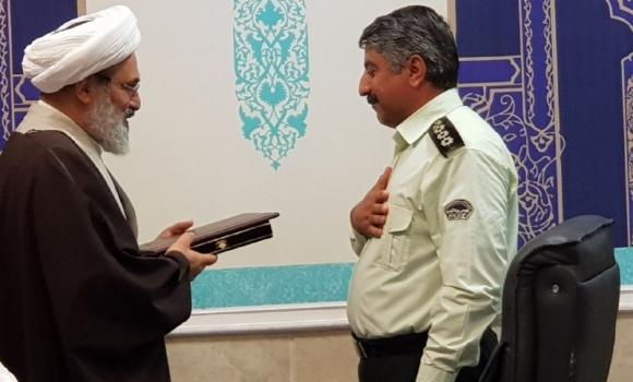 تقدیر تولیت مسجد مقدس جمکران از فرماندهان انتظامی و راهور منطقه جمکران