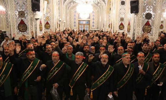تشرف خادمان افتخاری مسجد مقدس جمکران به حرم امام رضا(علیه السلام)