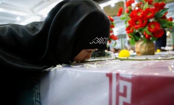 تشییع پیکرهای مطهر شهدای گمنام در مسجد مقدس جمکران
