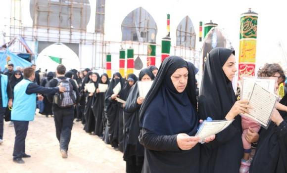 100 ختم کامل قرآن کریم به صورت روزانه در موکب مسجد مقدس جمکران