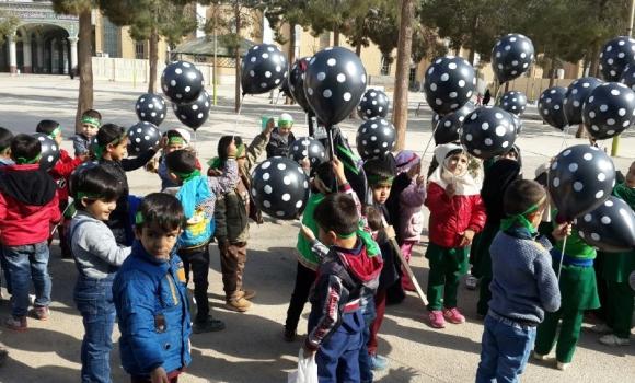 پیاده روی کودکان 6 ساله به یاد حضرت رقیه(سلام الله علیها)