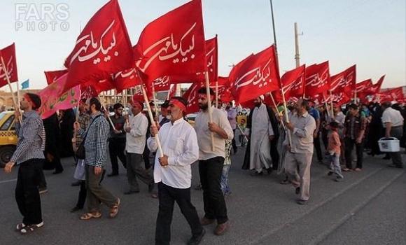 توزیع 10 هزار سربند و پرچم منقش به «لبیک یا مهدی» در صبحگاه روز نهم ربیعالاول