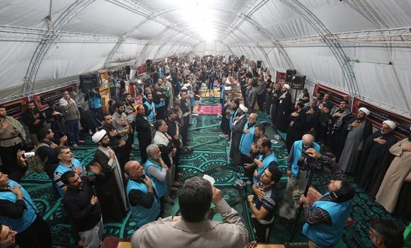 نخستین مراسم سخنرانی و عزاداری در موکب مسجد مقدس جمکران