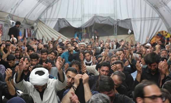 مراسم سخنرانی و قرائت دعای توسل در موکب مسجد مقدس جمکران