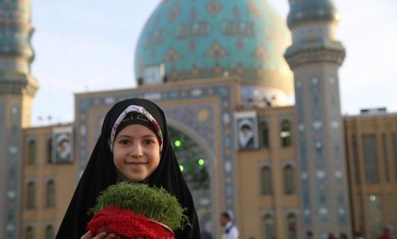 تحویل سال جدید در مسجد مقدس جمکران