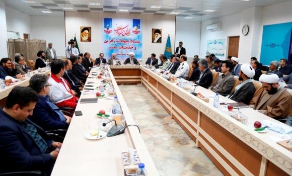 جلسه ستاد تسهیلات زائرین استان قم در مسجد مقدس جمکران