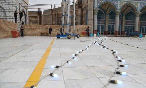 آغاز چراغانی مسجد مقدس جمکران به مناسبت نیمه شعبان