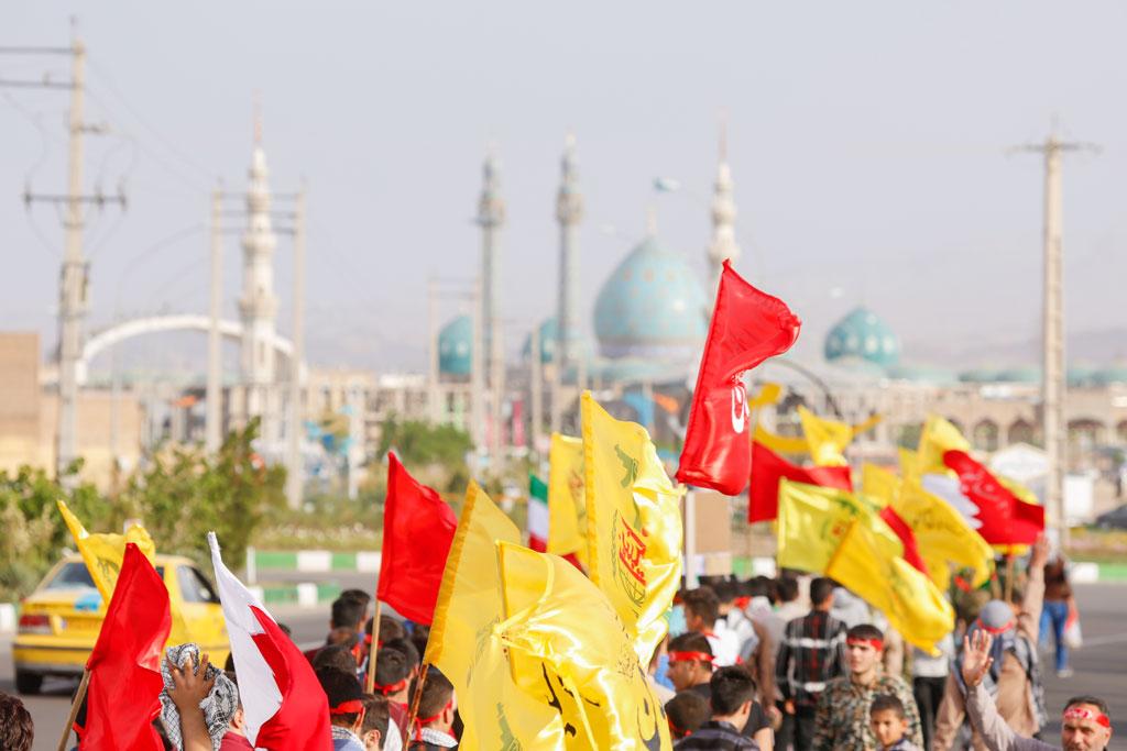کاروان با شکوه شادی عید غدیر به مسجد مقدس جمکران رسید
