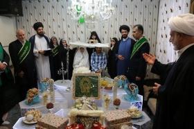 پیوند فیروزه ای زوج های امام رضایی در اتاق عقد مسجد مقدس جمکران