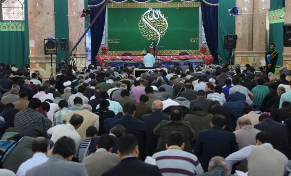 زمزمه دعای ندبه در فضای قدسی مسجد مقدس جمکران