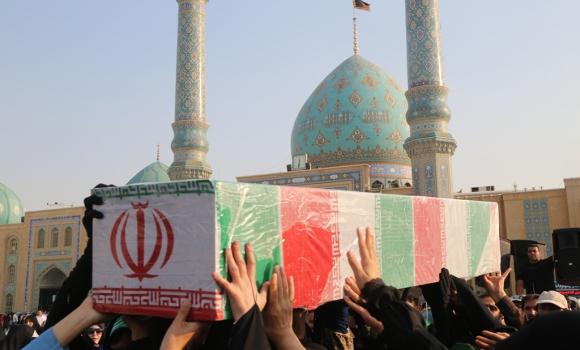 تشییع پیکر شهدای گمنام در مسجد مقدس جمکران