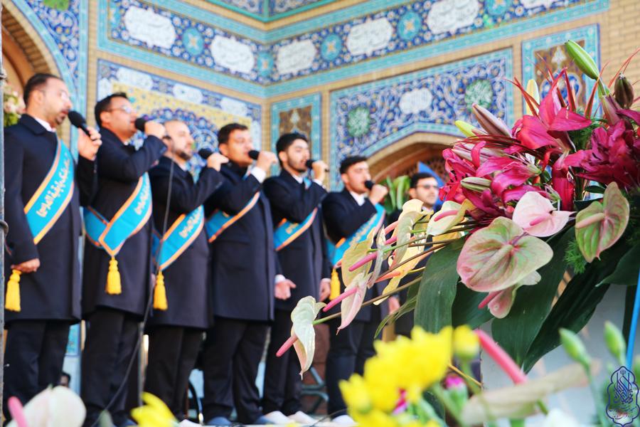 اجرای گروه تواشیح خادم المهدی (عج) در نیمه شعبان