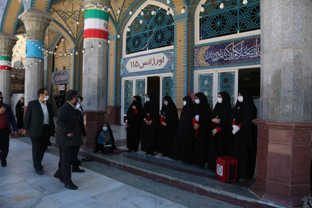 بازدیدمشترک از استقرار نیروهای هلال احمر در مسجدمقدس جمکران